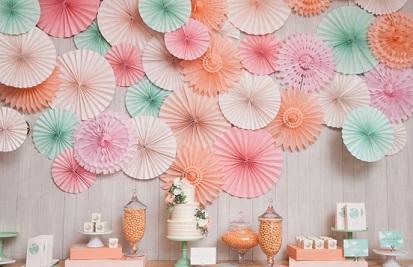 paper fan wall drop