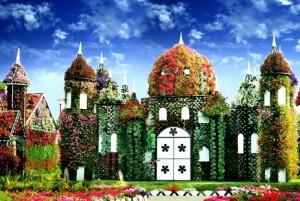 Istana berhias bunga