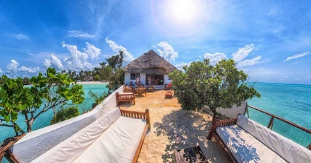 The Rock, Zanzibar - terrace
