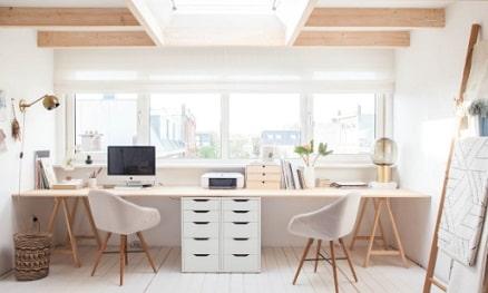 ruang kerja minimalis di rumah