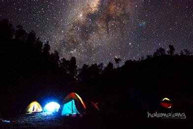 Ranu Kumbolo Bima Sakti Milky Way