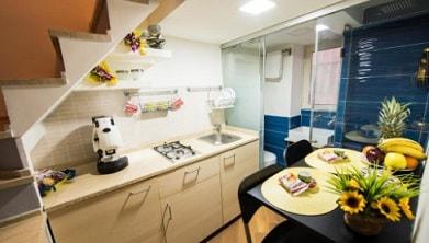 dapur di apartemen kecil