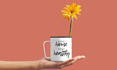 tinggal di rumah dan tetap sehat