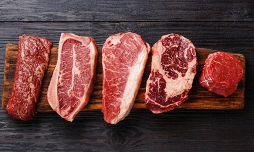 berbagi jenis daging